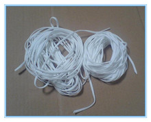white color round elastics band for medical mask