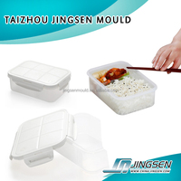 Food container lunch box plastic injection mold, mold custom