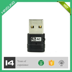 Dual Band USB WiFi Dongle / Wireless Network Adapter with WPS (2.4 GHz, 150Mbps / 5GHz, 433Mbps)