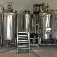 Micro Draft Beer Brewery Equipment of 3 bareel 5bbl Brewhouse system mini brewing machine