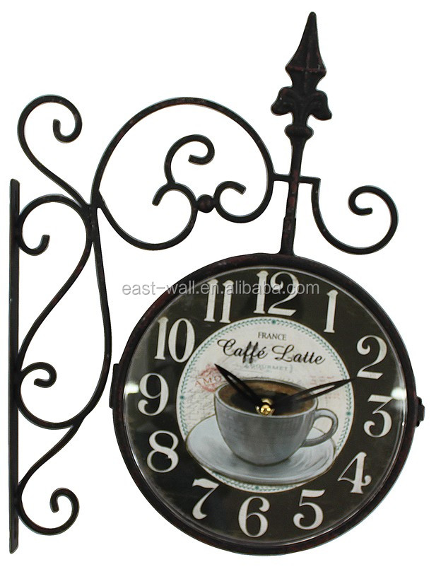 color and dial printing customized rustic antique home decor wall clocks