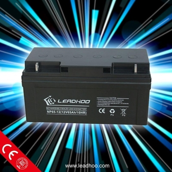 agm lead acid solar battery 12V 65ah rechargeable for solar energy
