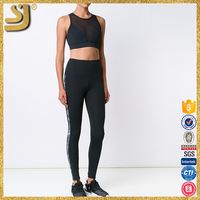 OEM stripes package hip long-sleeved jumpsuit sexy tight leggings, legging with sublimation, grey thermal thick legging
