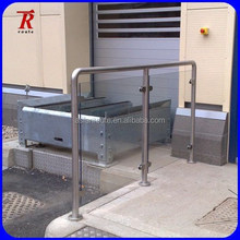 stainless steel round handrail support banister
