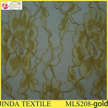 2014 Indian Gold Cord George Fabric /African Net Lace for Wholesales