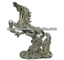 Silver plating polyresin animal figurine