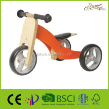 2017 Hot sale 2-in-1Children Wooden Triciclo de Madeira Bike and Tricycle