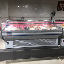 New Commercial Open Air Cooler Horizontal Refrigerator Meat/Vegetable Display Chiller