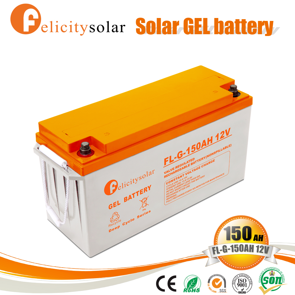 free maintenance gel rechargeable sealed lead acid battery made in China