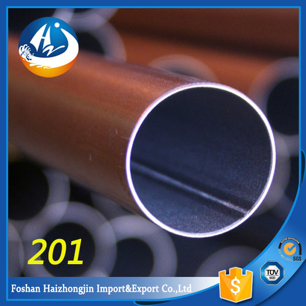 moderate price decorative 201 stainless steel welded pipe/tube