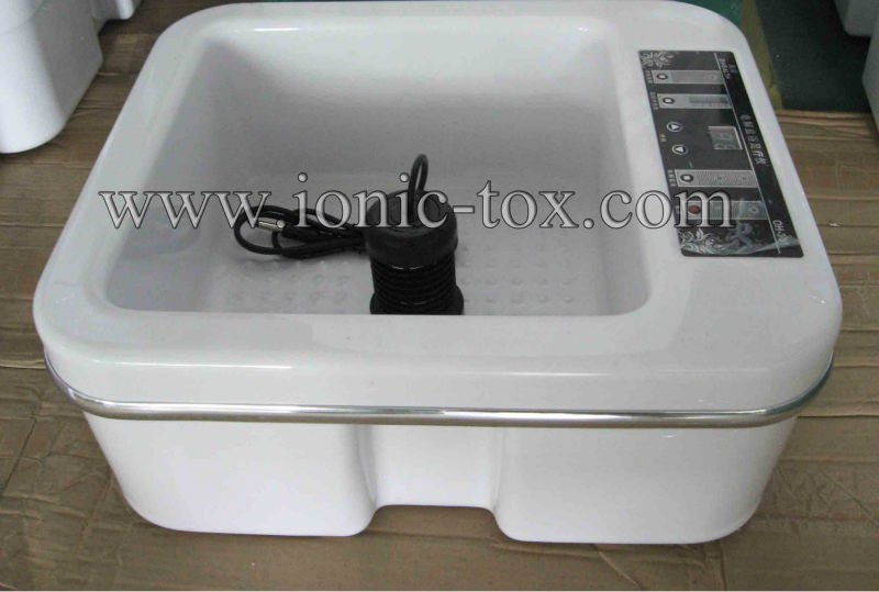 New body cleanse ion footbath spa,vibrator machine with heating keep warm