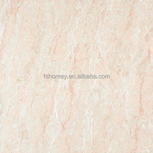 Nature marble pink color nano polished porcelain floor tiles double loading for shop interior design from foshan sincere company
