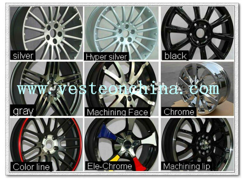 16'' 17'' 18'' 20'' 22'' inch high quality replica alloy wheels rims