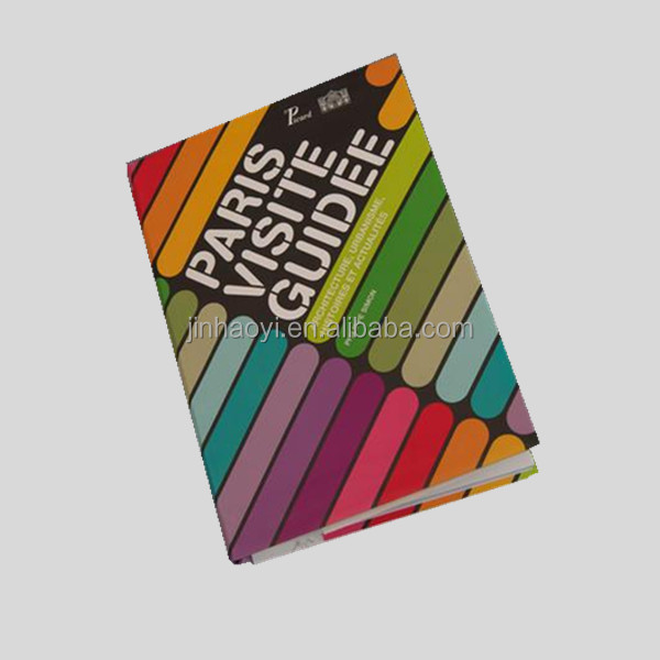 paris visit guide book printing service in 4 color CMYK