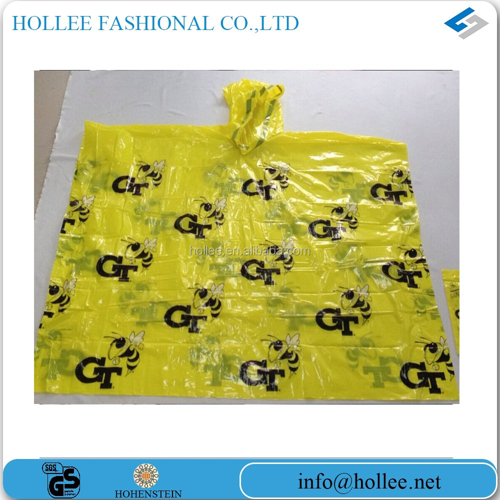 Hot Sale Top Quality PE Clear Plastic Disposable Raincoat