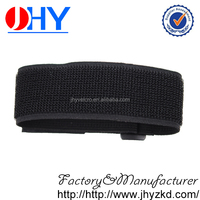 Black strength hook and loop binding band for industrial use