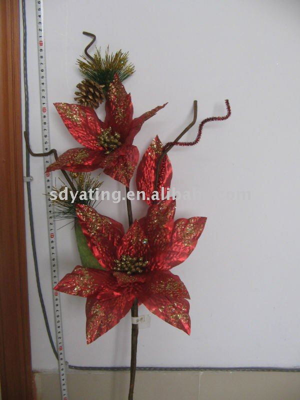 Christmas flower,artificial flower,Christmas tree,big flower FB11-19
