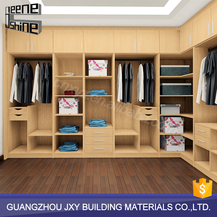 JeeneShine customized material mdf wood almirah designs in bedroom