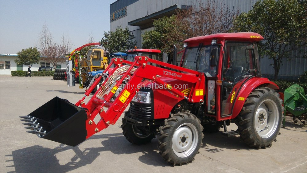 Chinese DQ904 farm tractor for sale with A/C cabin