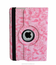 "cover case for ipad mini 3 mini 2 mini 1 mini 4, 7.9"" retina display, PU Stand Cover 360 degree Rotation grape pattern"