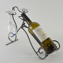Metal One Bottle Wine Holder, single bottle wine rack, creative wine display rack Holding one bottle Freestanding art wine stand