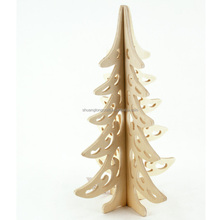 Factory direct sale wood craft foldable christmas tree made in China Shandong