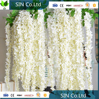 china hebei saiying high quality white long silk artificial wisteria flower / tree for wedding decoration