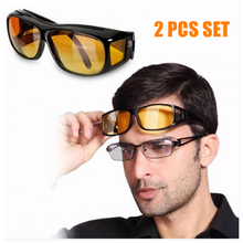 2 Pieces Box Factory Wholesale Wrap Around Night Car Driving Anti Glare Visor HD Vision Glasses
