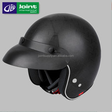 Carbon Fiber Motorcycle Removable Interior Open Face Helmet