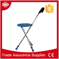 Alibaba express aluminum stool walking stick with seat/chair