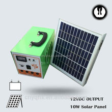 DC energy portable emergency controller solar led lamp for house use with mobile charger with battery
