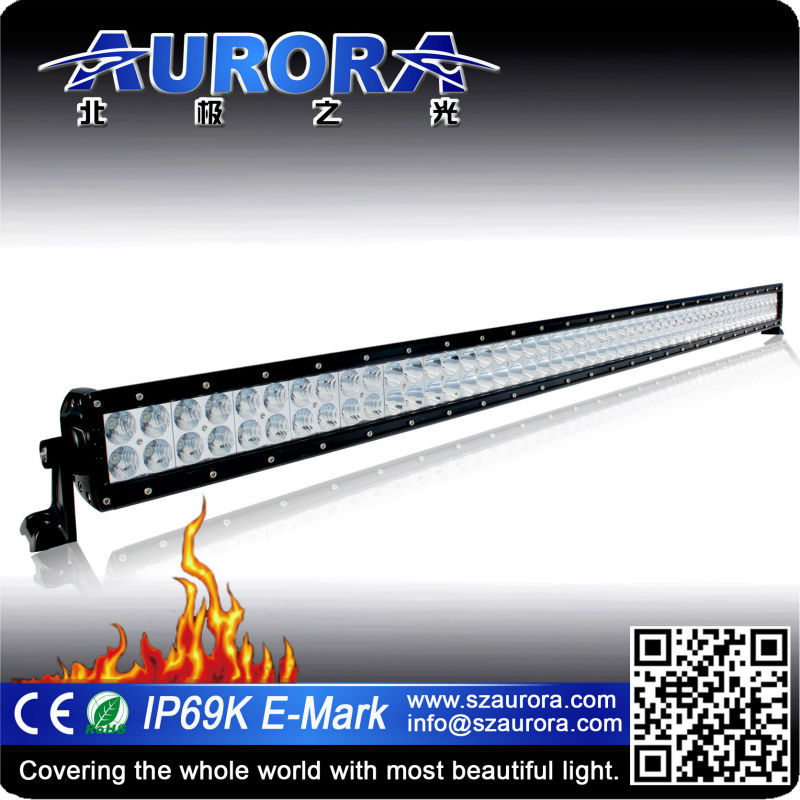 50 inch 300W Aurora curved bumper 4x4 offroad bar light led curved led light bar