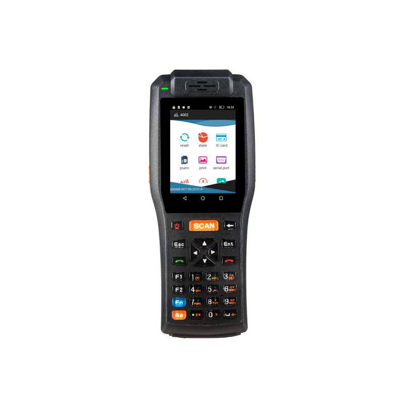 China Hot sales 3.5inch Touch Screen Handheld PDA Barcode Scanner With Thermal Printer