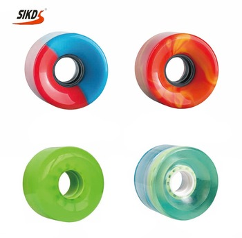 Wholesale longboard wheel polyurethane wheels longboard mix Color OEM logo