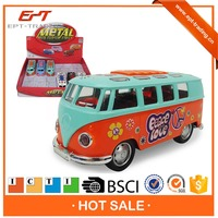 1 32 Scale pull back diecast metal toy bus with stamping