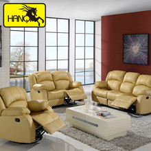 yellow electronic massage sectional recliner sofa