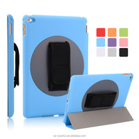 Factory Price Smart Handheld 360 Degree Rotating Back Cover Magnetic Case for iPad 6 for iPad Air 2