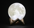 12-24cm 3D Printing Moon Light, Dimmable with Tap Control Home Decorative Night Light for Creative Gift