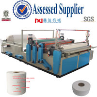 Slitting small bobbin paper equipment embossed tissue toilet rewinder manufacturer