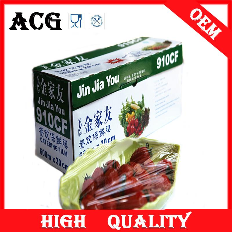 Food packing lldPVC jumbo roll stretch film for cantering use
