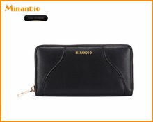 Women wallet 2017 long clutch business black wallets for fashion ladies made with PU leather