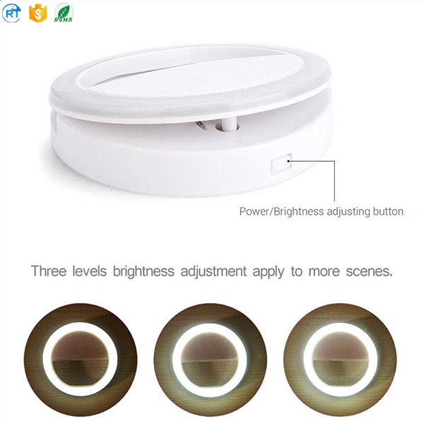 Alibaba wholesale portable beauty flash LED selfie ring light for girl