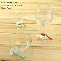 Top Selling In Stock With Suction Cup Bar Accessories Silicone Wine Glass Identifier