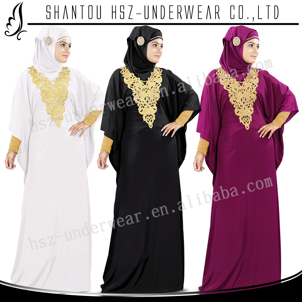 Zakiyyah MD Z017 abaya of jeddah China Black Fancy dress style in malaysia manufacturing abaya bandage dress