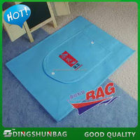 Quality promotional black printed nonwoven suit cover bag