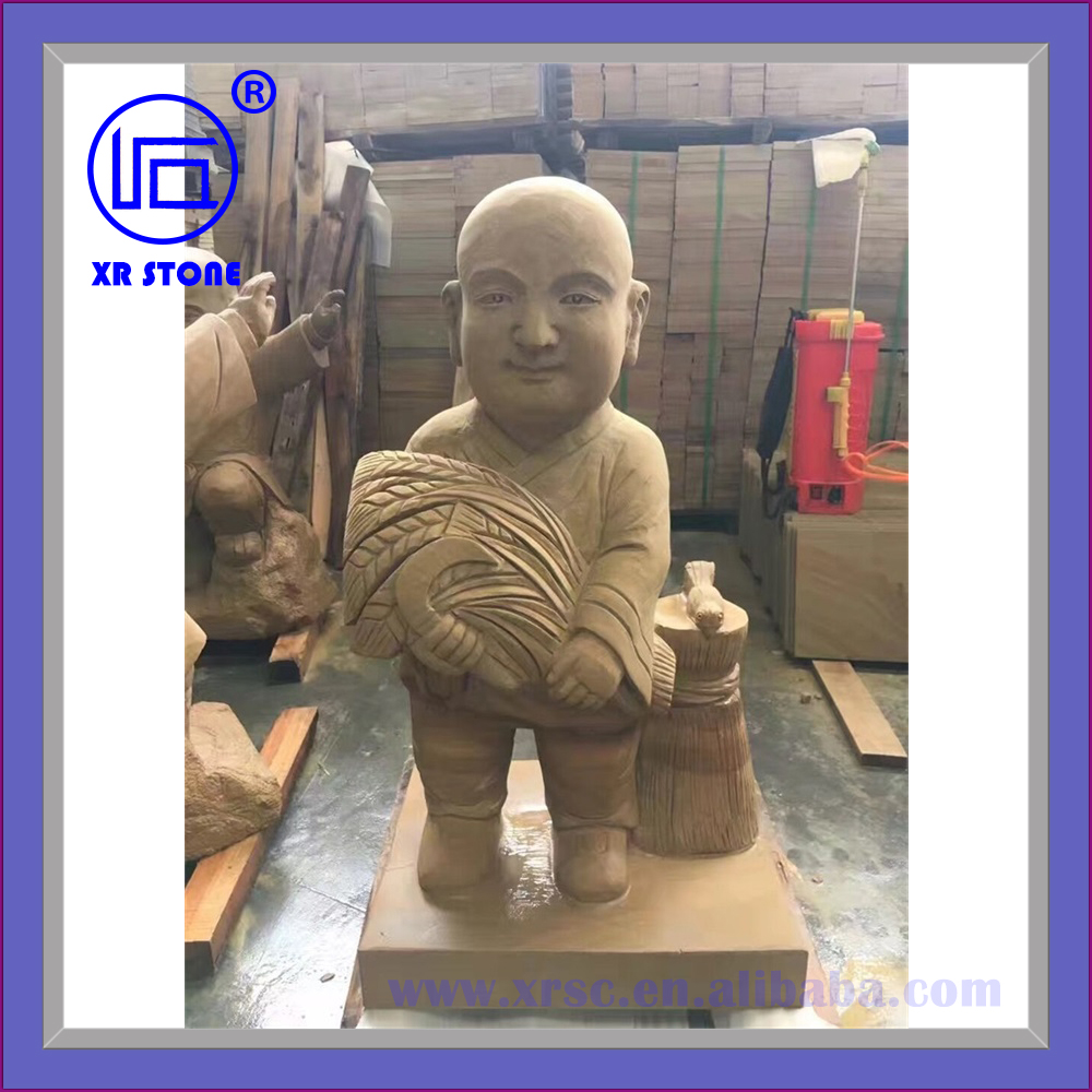 sandstone buddha statue for garden decoration