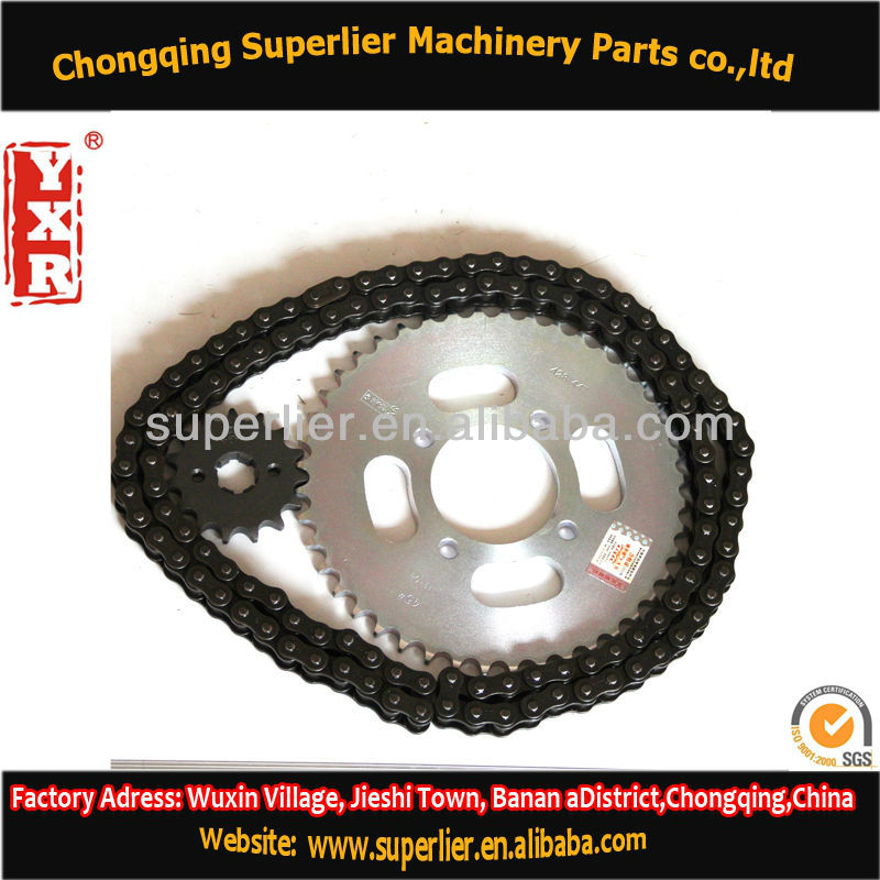 Professional produce custom motorcycle sprocket,NX 400 FALCON 15T sprocket,420 and 428 spare parts motorcycle