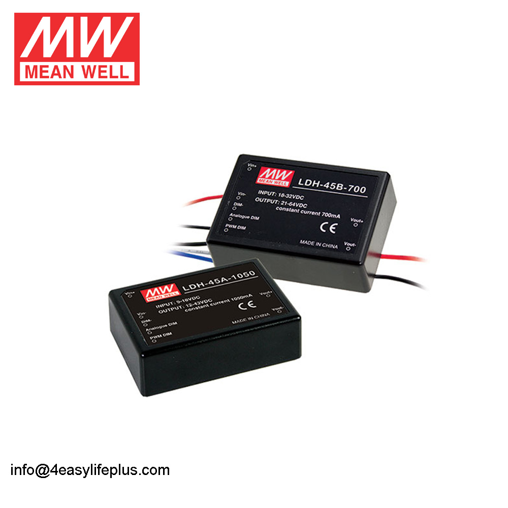 PWM Dimming Remote ON / OFF control DC-DC Step-Up Constant Current LED driver LDH-45 Series