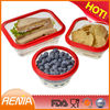 RENJIA durable silicone collapsible bowls,custom silicone container,collapsible silicone rubber bowl