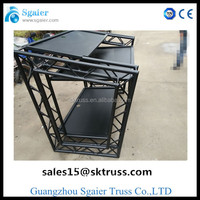 Black dj truss system/DJ booth for sale/american DJ for sale in gz truss factory